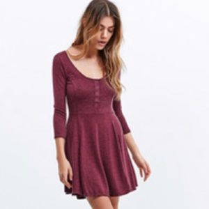 Urban Outfitters BDG Knit Henley Swing Dress XS